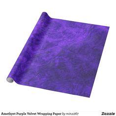 Amethyst Purple Velvet Wrapping Paper