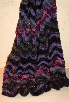 Mixed Purple Knit Blanket Purple Throw Blanket by MagpieandOtis
