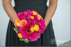 One of my favorite venues in Cincinnati is Pebble Creek Golf Course and Event Center. It is always beautiful and has the best view for a sunset. Beautiful Bouquets, Bright Pink, Cincinnati, Summer Wedding, Orange Color, Congratulations, Golf, Colors, Photography