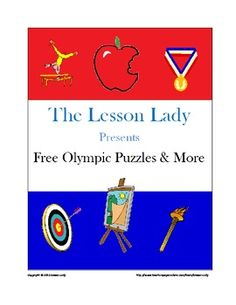 FREE Summer Olympics Puzzles & More - 10 printable puzzles & fast finisher creative drawing sheets are included in this packet by The Lesson Lady.