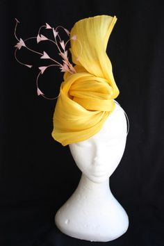 Sculpted silk abaca by pinklanehats.com.