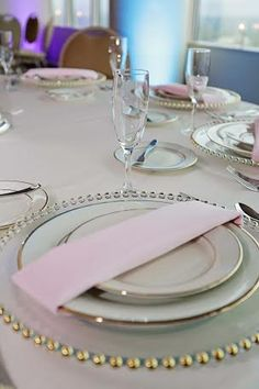 table setting #flatware #silverware #glassware #rental