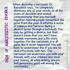 Pain of Narcissistic Divorce. The Narcissist: A User's Guide by Betsy Wuebker and Lori Hoeck