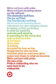 There is no shortage of pride to go around. Join in the celebration of being your authentic self, to Take Pride in who you were born to be and to share it with the world. Use this printable to celebrate Pride month!