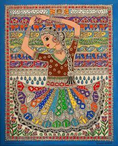 Rang Nritya - dance of colors - Creative Mithila Mithila / Madhubani Painting Artist- Nupur Nishith Madhubani Art, Madhubani Painting, Zentangle, Worli Painting, Acrylic Paintings, Art Sketches, Art Drawings, Buddha Canvas, Indian Folk Art