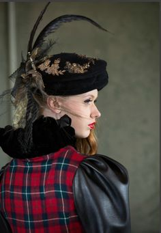 inspired by Mary Queen of Scots Mary Queen Of Scots, Haberdashery, Hat Making, Fabric Art, Headpiece, Tartan, Fashion Accessories, Victorian, Bride