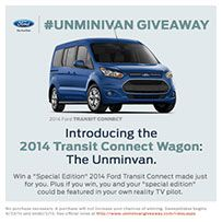 Watch and Enter for your chance to win during The Ford #Unminivan Giveaway!