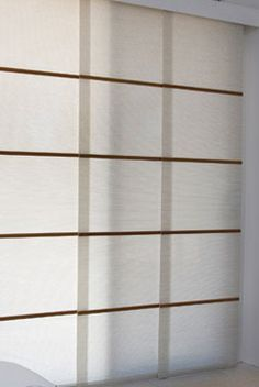 Panel Glides are the perfrect solution for covering sliding doors and large glass areas Window Coverings, Window Treatments, Window Detail, Sliding Doors, Kitchen Remodel, Blinds, New Homes, Home And Garden, Design Ideas