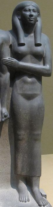 Khamerernebty II was an ancient Egyptian queen of the 4th dynasty. She was a daughter of Pharaoh Khafra and Queen Khamerernebty I. She married her brother Menkaure and she was a mother of Prince Khuenre.
