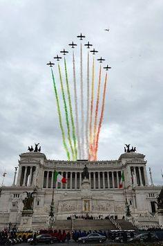 Frecce Tricolori Rome, Italy