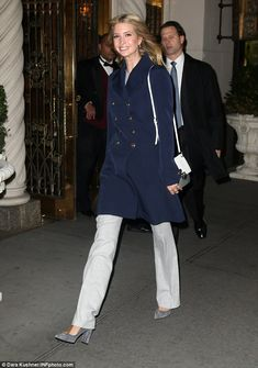 Early bird! Ivanka Trump was photographed leaving her Park Avenue apartment before the sun rose on Monday morning