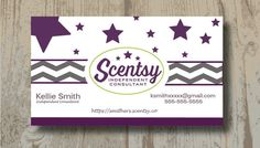 Scentsy Business Cards Digital Upload One Sided Business Card For Any Business