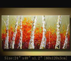 contemporary wall art Palette Knife by xiangwuchen on Etsy