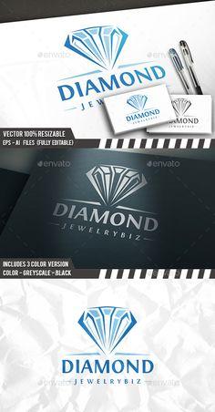 Diamond Logo Template: Object Logo Design Template created by BossTwinsArt. Letterhead Template, Logo Design Template, Logo Templates, Diamante Logo, Diamond Graphic, Ring Logo, Creative Logo, Creative Studio, Diamond Vector