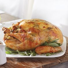 An Herb-Buttered Stuffed Turkey is very essense of Christmas, isn't it? It's beautiful AND delicious.