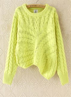 Neon cable knit sweater