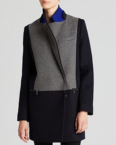 DL2 by Dawn Levy Coat - Lila Color Block | Bloomingdale's
