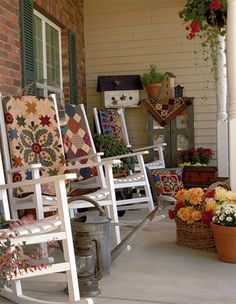 Beautiful Country Style Front Porch......