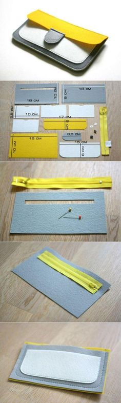 New Sewing Patterns Purse Wallet Tutorial Ideas Sewing Tutorials, Sewing Projects, Sewing Patterns, Wallet Pattern, Leather Projects, Handmade Bags, Leather Craft, Purses And Bags, Purse Wallet
