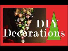 How to make an Inverted Tree Chandelier demonstration - Christmas Decora...  Aaaah WOWZA! Pretty amazing!