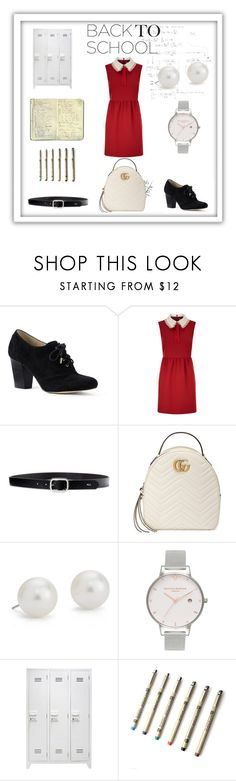 """Prep Perfect"" by sanjna-sanjiv ❤ liked on Polyvore featuring Lands' End, RED Valentino, Lauren Ralph Lauren, Gucci, Blue Nile, Olivia Burton and Moleskine"