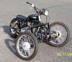 Homebuilt tilting 3 wheel motorcycle