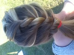 Cute but simple ponytail
