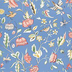 Thibaut Spring Lake - Ladybird - Wallpaper - Cobalt