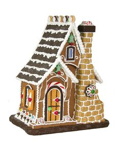 byer's choice gingerbread house.  Sugar Cookie Cottage.  (Cliff's pick on Thanksgiving)