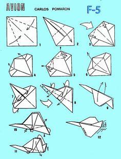 Origami paso a paso globo ideas flugzeug Origami Paper Plane, Origami Airplane, Origami Toys, Origami Modular, Airplane Crafts, Origami And Kirigami, Paper Crafts Origami, Diy Origami, Origami Tutorial