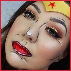 PopArt WonderWoman ❤️ Makeup Tutorials, Pop Art, Halloween Face Makeup, Wonder Woman, Wonder Women, Art Pop, Make Up Tutorial