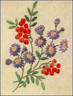 """Vintage embroidery by sue-tarr, via Flickr From """"Needlewoman & Needlecraft"""", January 20th 1951, issue No. 45."""