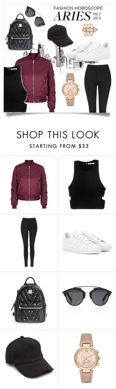 """Aries Fashion Horoscope"" by danniela2699 ❤ liked on Polyvore featuring Topshop, T By Alexander Wang, adidas, MCM, Christian Dior, rag & bone, Michael Kors, fashionhoroscope and stylehoroscope"