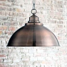 Southton Copper Dome Pendant Light 13 Wide Modern Industrial Rustic Fixture for Kitchen Island Dining Room - Franklin Iron Works Copper Light Fixture, Copper Pendant Lights, Copper Lighting, Glass Pendant Light, Rustic Lighting, Light Fixtures, Lighting Ideas, Ceiling Pendant, Island Pendant Lights