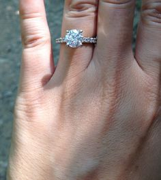 Engagement ring! Princess cut instead