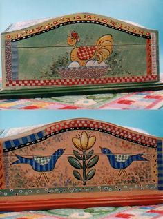 Painted this with Heidi in the Texas Hill Country, Ingram, TX. I wished that I still had it but was donated to the Ronald McDonald house. Norwegian Rosemaling, Scandinavian Folk Art, Indian Folk Art, Pintura Country, Country Paintings, Hand Painted Furniture, Bird Design, Tole Painting, Creative Art