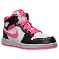 Girls'Jordan Air Jordan 1 Mid Basketball Shoes