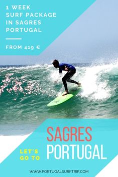 1 WEEK SURF PACKAGE IN SAGRES   Learn how to surf in Sagres and have fun ! what is included: 7 nights accommodation with breakfast   5 surf lessons with certified local instructors   full & quality surf equipment   beach transfer to the best surf spot bed linens & towel   Wi-Fi #sagres #portugal #surfing #week #vacation #learnHowToSurf #enjoy #surfing #waves #atlantic #ocean #active #surf #holiday #with #portugalsurftrip Best Surfing Spots, California Surf, Surf Trip, Yoga Retreat, Atlantic Ocean, Bed Linens, Wi Fi, Have Fun, Towel