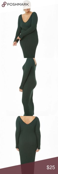 74255e610d Women s Plus Sweater Dress Plus Size Bodycon Midi Sweater Dress A ribbed  sweater-knit midi. Poshmark