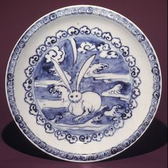 Dish with Design of Hare in Clouds, ca. 1624–43. Japan. The Metropolitan Museum of Art, New York. Gift of Paul B. Zeisler, 1971 (1971.225.1)