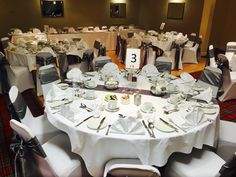 Grampian hotel weddings table set up