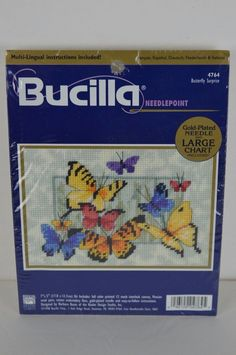 #Bucilla #Butterfly #Surprise#4764 #Needlepoint #Kit #FREESHIPPING #Bucilla#ButterflySurprise#Crafts