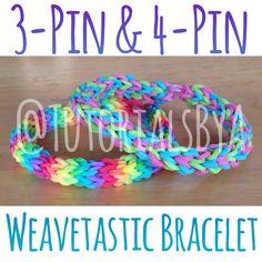 TutorialsByA's new original Rainbow Loom bracelet: Weavetastic