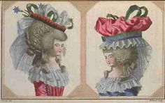 "Headdresses, ""Cabinet des Modes (Magasin des Modes)"", October 1786."