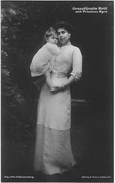 "Grand Duchess Viktoria Feodorovna Romanova of Russia with Princess Kyra Kirillovna Romanova of Russia. ""AL"""