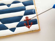 Nautical Cookies Royal Icing Tutorial from Sweet Ambs