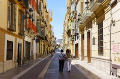 Schöne Straße in Malagas Altstadt