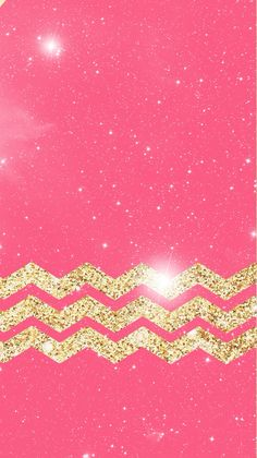 Gold Glitter Chevron iPhone Wallpaper.