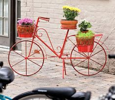BICICLETAS viejas para decorar jardines, terrazas y parques - Curiosas IDEAS