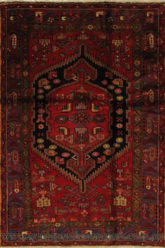 Zanjan Hand Knotted Medallion Wool Rug
